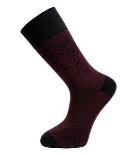 Бордовые утепленные мужские носки